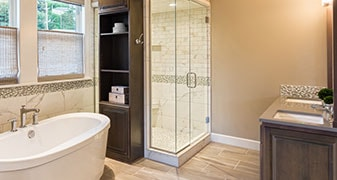 Bathroom in Luxury Home - Bathtub and Shower