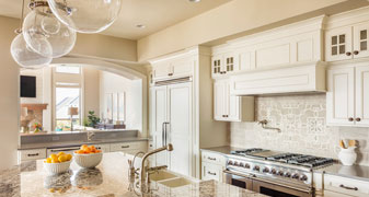 Beautiful Kitchen Countertop, Cabinets and Island
