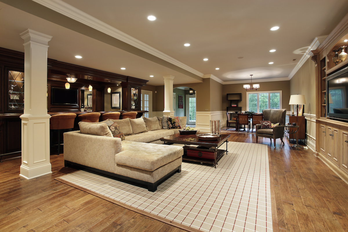luxurious Basement Remodeling Contractors