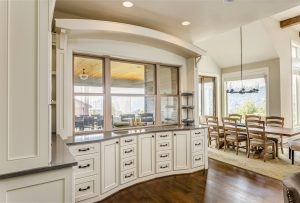 kitchen with luxurious cabinets