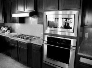 built-in oven and stovetop