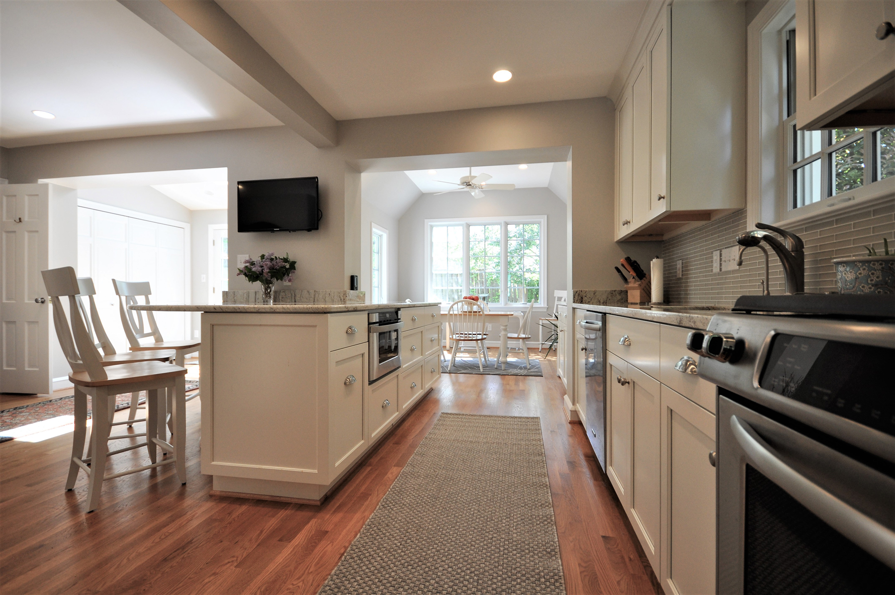 Full Kitchen Remodel with white cabinets in Montgomery County, MD