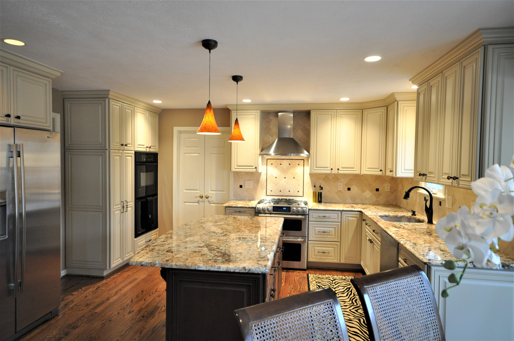 Full Kitchen Remodel with Cream Cabinets in Montgomery County, MD