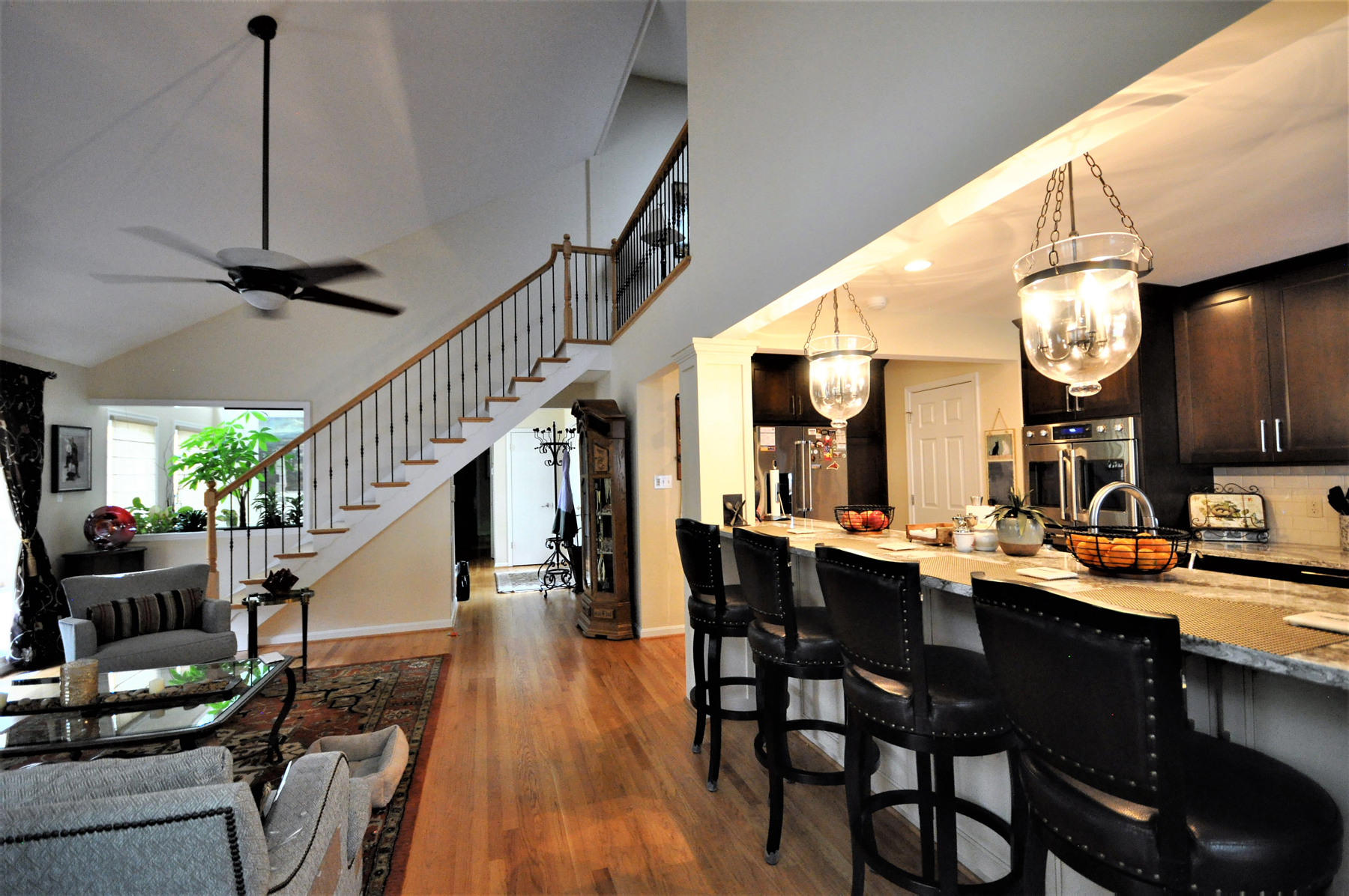 Kitchen Remodel with Stair Case in Montgomery County, MD