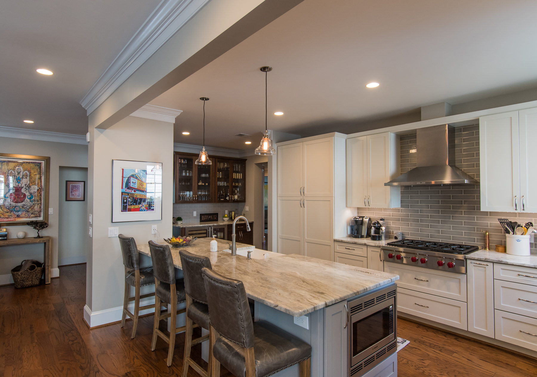 Full Kitchen Remodel with Microwave in Island in Montgomery County, MD