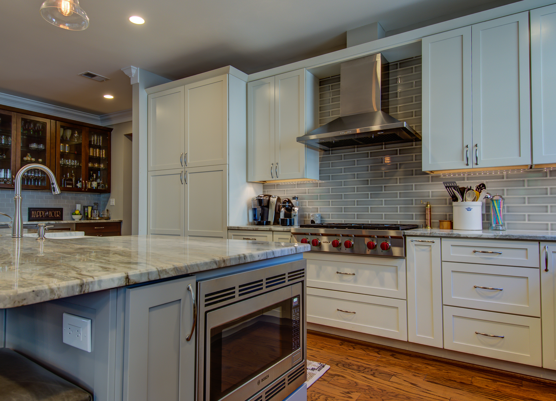Kitchen Remodel with Microwave in Island in Montgomery County, MD