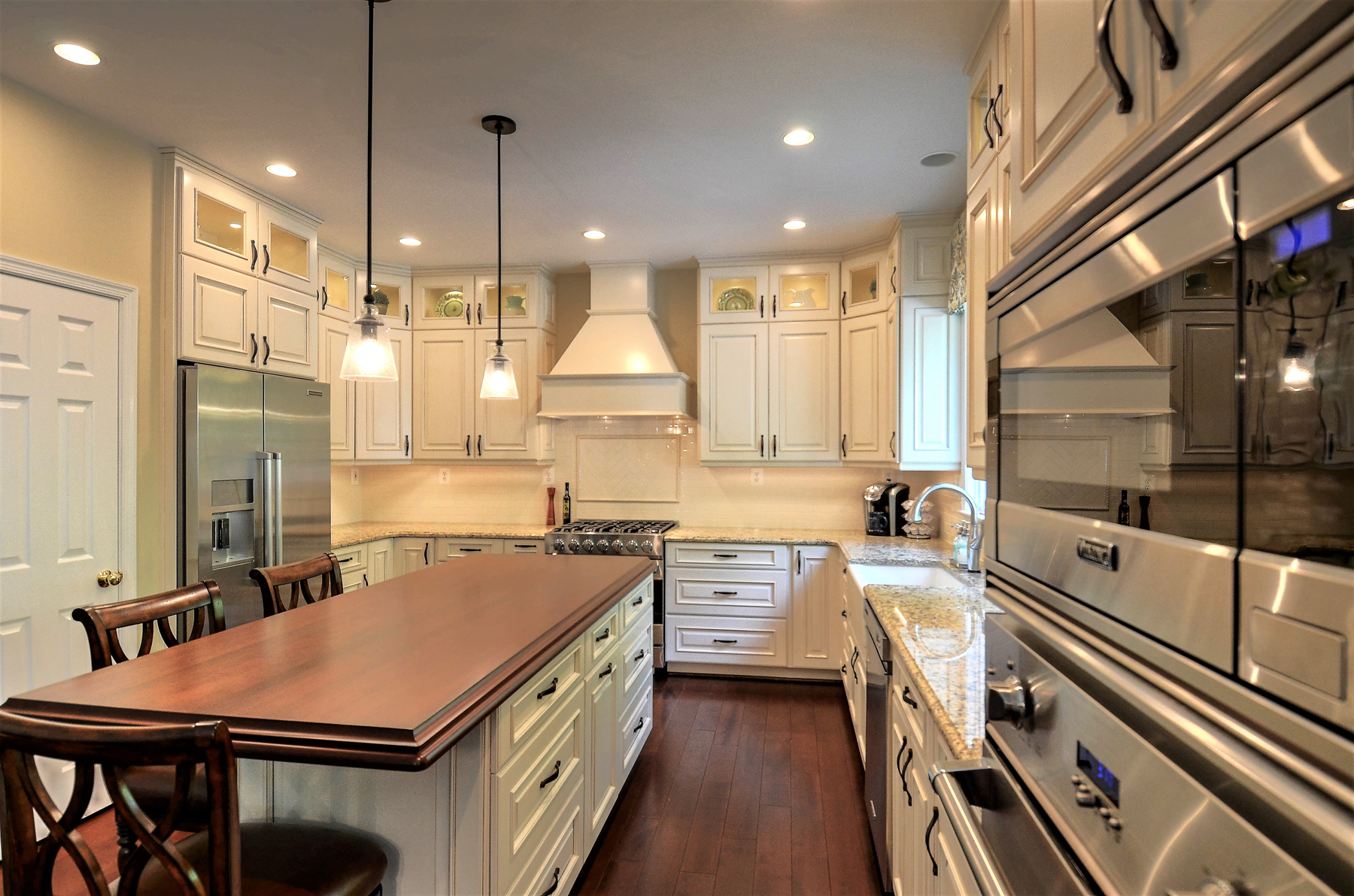 Kitchen Remodel with White Cabinets in Montgomery County, MD