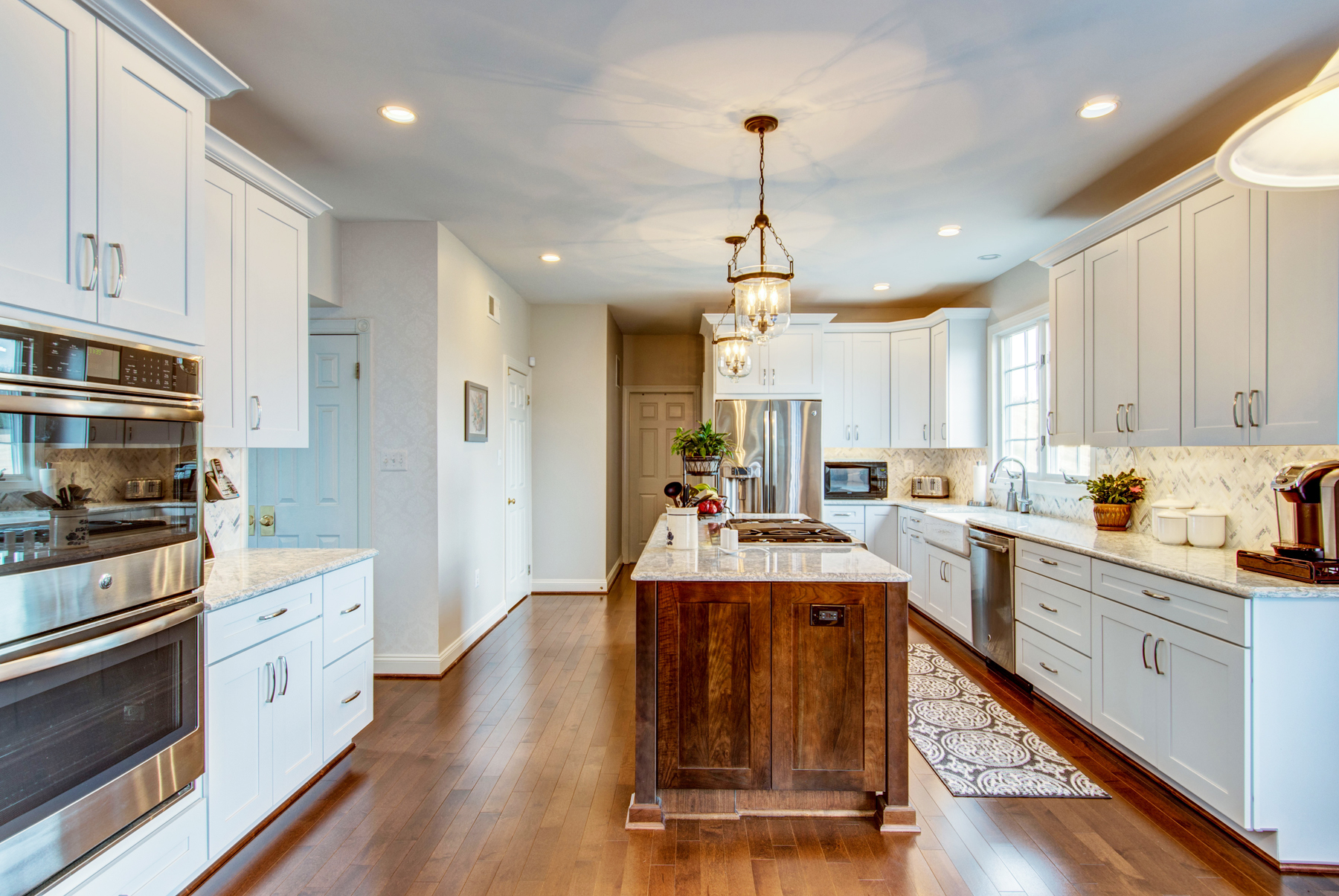 Full Kitchen Remodel with Wood Island in Montgomery County, MD
